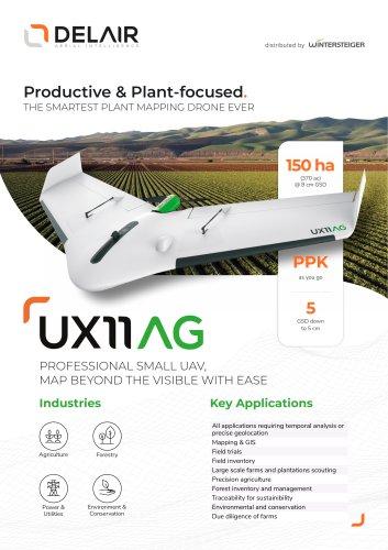 Delair UX11 AG long-distance drone and delair.ai platform.