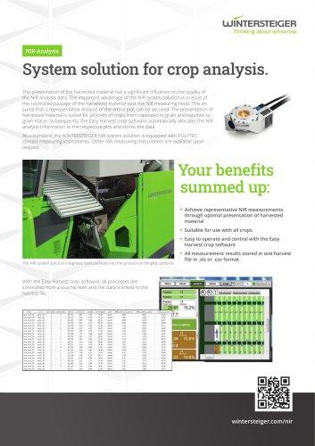 NIR-Analysis near infrared spectroscopy