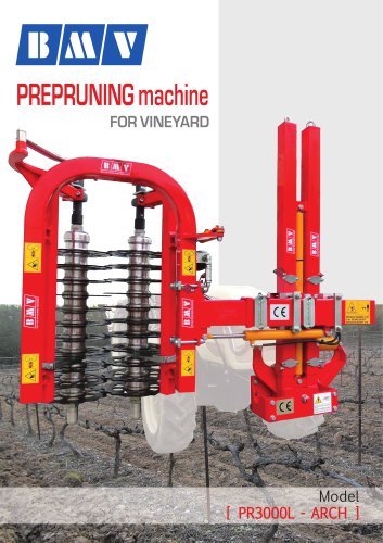 PREPRUNING machine FOR VINEYARD