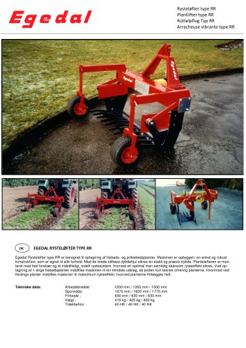 Plant lifter type RR