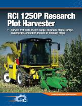 1250P Research Plot Harvester