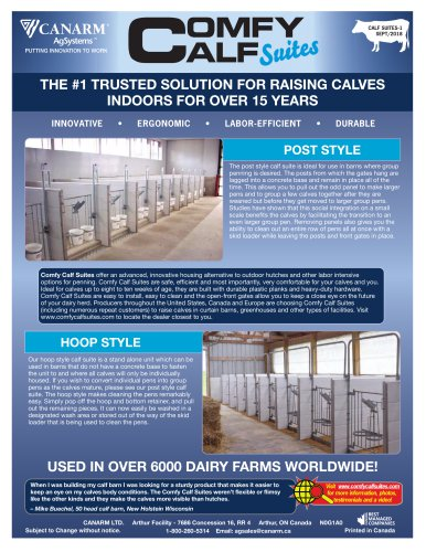 THE #1 TRUSTED SOLUTiON FOR RAiSiNG CALvES iNDOORS FOR  OvER  15 yEARS