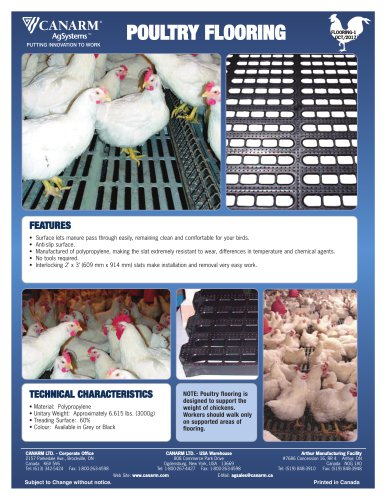 POULTRY FLOORING