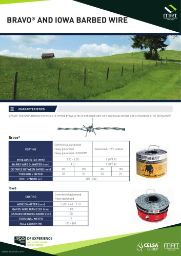 Bravo® and Iowa Barbed wire