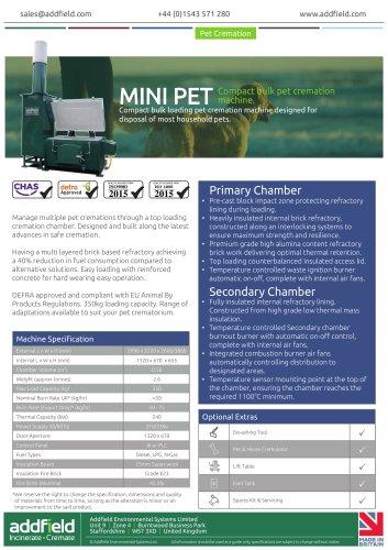 Addfield MINI Pet Cremation Machine Datasheet AI