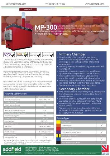 Addfield MP-300 Medical Waste Incinerator Datasheet GA AI