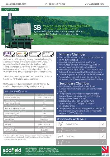 Addfield SB Agricultural Incinerator Datasheet GA