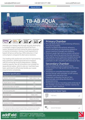 Addfield TB-AB AQUA Waste Incinerator Datasheet PLC