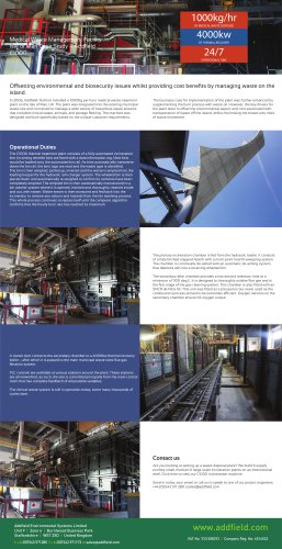 Medical Waste Management Facility Isle of Man Case Study – Addfield C1000