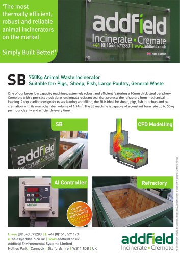 SB - Animal Incinerator - Addfield Environmental Systems