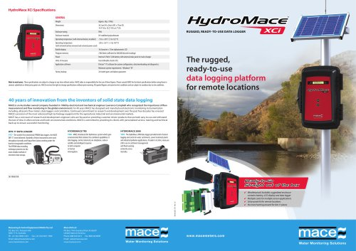 MACE HydroMace XCi Brochure