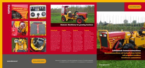 Damcon Selector tree lifting machines