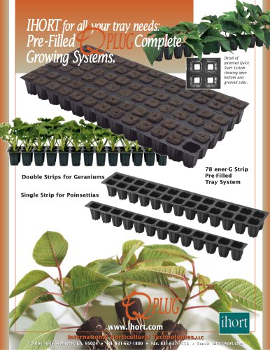 Pre-Filled Complete Growing Systems