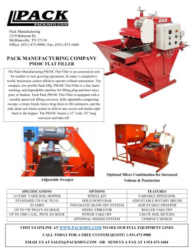 PACK MANUFACTURING COMPANY PM10C FLAT FILLER