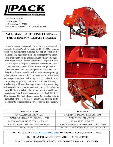 PM1210 HORIZONTAL BALE BREAKER