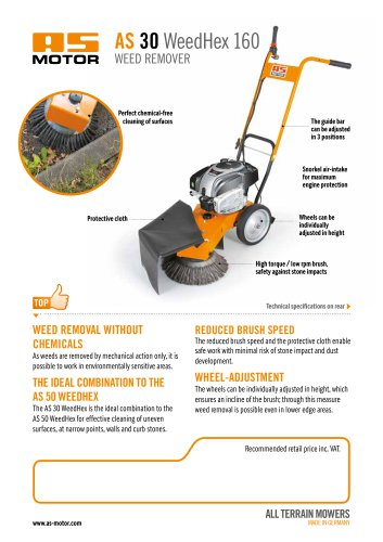 AS 30 WeedHex 160 Weed Remover