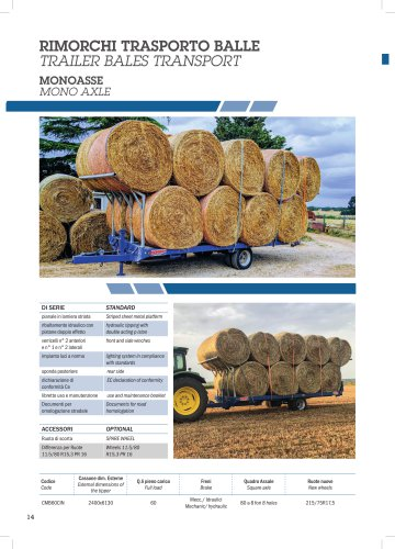 TRAILER BALES TRANSPORT