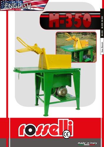 Circular saw with electric motor M-350 M-360 - Rosselli Snc