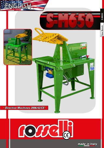 Electric saw bench for firewood S-M650 S-M655 - Rosselli Snc