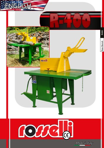 R-400 Circular saw with sliding table - Rosselli Snc
