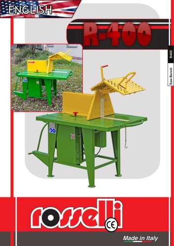 R-400 Circular saw for tractor with sliding table - Rosselli Snc