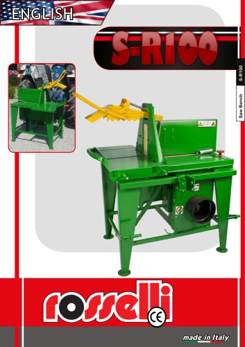 S-R100 Circular saw for tractor - Rosselli Snc