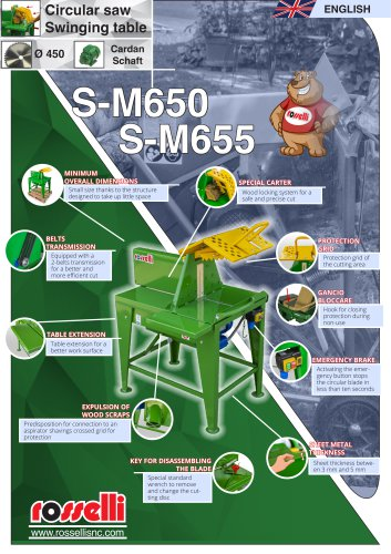 Saw bench for cutting wood for domestic use S-M650 S-M655