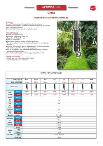 Orbita Inverted Micro Sprinklers