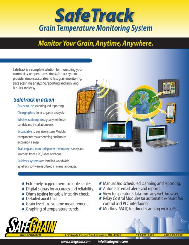 Safe Track Grain Temperature Monitoring System Brochure