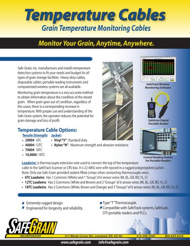 Temperature Cable Brochure