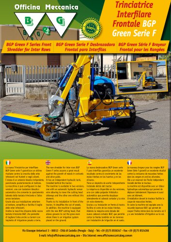 BGP GREEN F FRONT SHREDDER FOR INTER ROWS