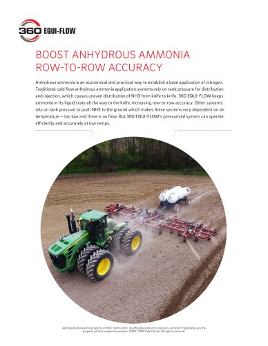 BOOST ANHYDROUS AMMONIA ROW-TO-ROW ACCURACY