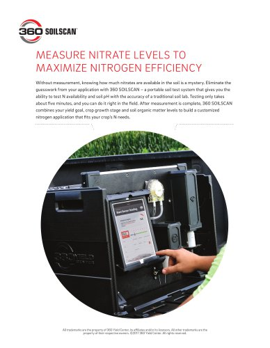 MEASURE NITRATE LEVELS TO MAXIMIZE NITROGEN EFFICIENCY
