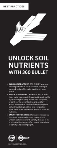 UNLOCK SOIL NUTRIENTS WITH 360 BULLET