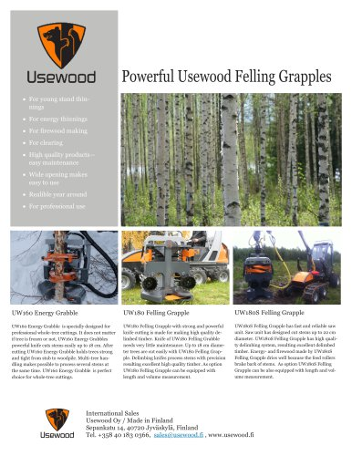 Powerful Usewood Felling Grapples