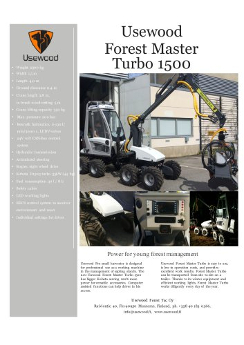 Usewood Forest Master Turbo 1500