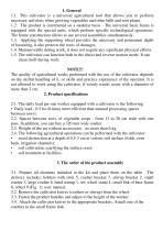 Manual cultivator KR -1 - 2