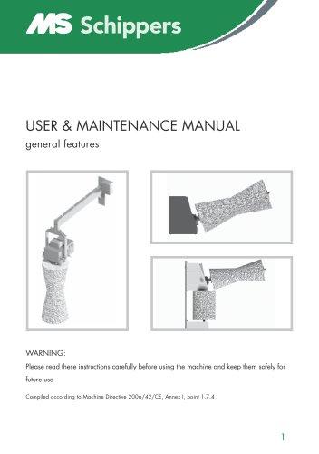 USER & MAINTENANCE MANUAL