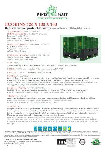 ECOBINS 120 X 100 X 100