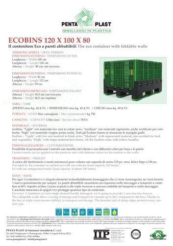 ECOBINS 120 X 100 X 80