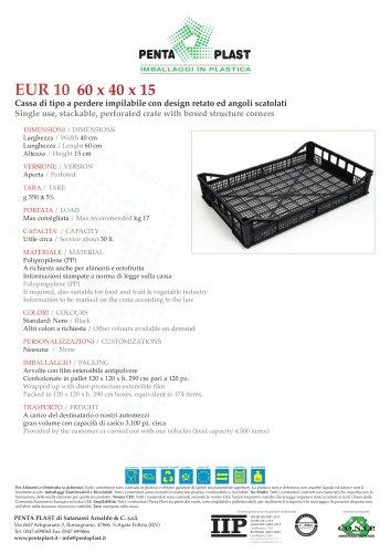 EUR 10 60 x 40 x 15