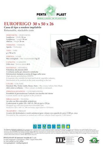 EUROFRIGO 30 x 50 x 26