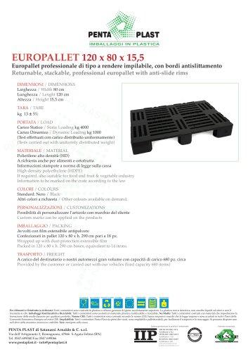 EUROPALLET 120 x 80 x 15,5