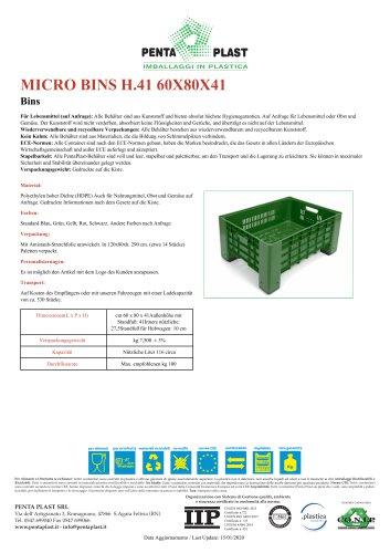 MICRO BINS H.41 60X80X41