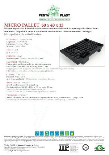 MICRO PALLET 60 x 40 x 13