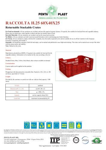 RACCOLTA H.25 60X40X25