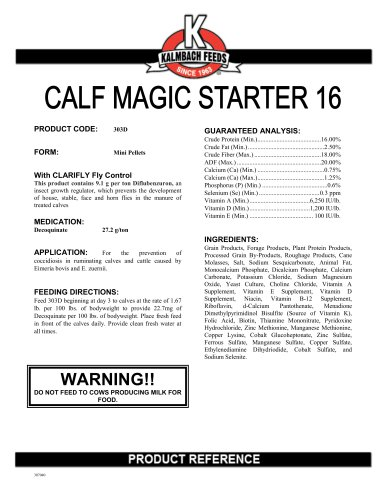 CALF MAGIC STARTER 16
