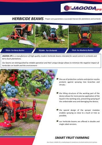 Herbicide Beams for Berries TEKLA