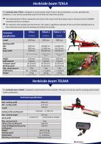 Herbicide Beams for Berries TEKLA - 2