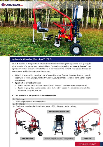 ZUZA-3 weeding Machine